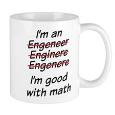 I am good with math Small Mugs