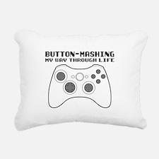 Button Masher Rectangular Canvas Pillow