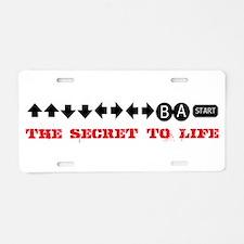 Cheat Code Aluminum License Plate