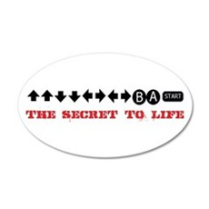 Cheat Code 20x12 Oval Wall Decal