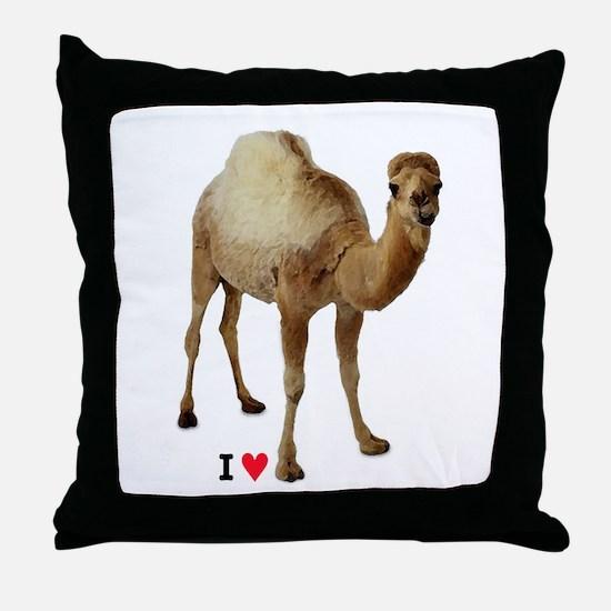 I love camel toe - Throw Pillow
