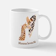 Momma Loves me baby giraffe Mug