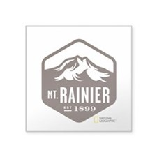 "Mount Rainier Square Sticker 3"" x 3"""
