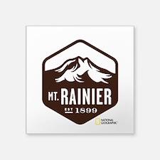 "Mount Rainier Square Sticker 3"" x 3"""