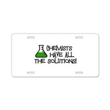 Chemists Aluminum License Plate