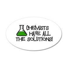 Chemists 35x21 Oval Wall Decal