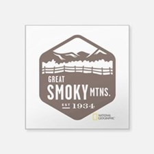 "Great Smoky Mountains Square Sticker 3"" x 3"""