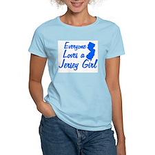 EVERYONE LOVES A JERSEY GIRL  Women's Pink T-Shirt