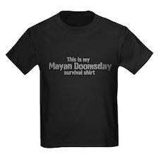 Mayan Doomsday survival shirt T