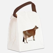 Jersey Cow Canvas Lunch Bag