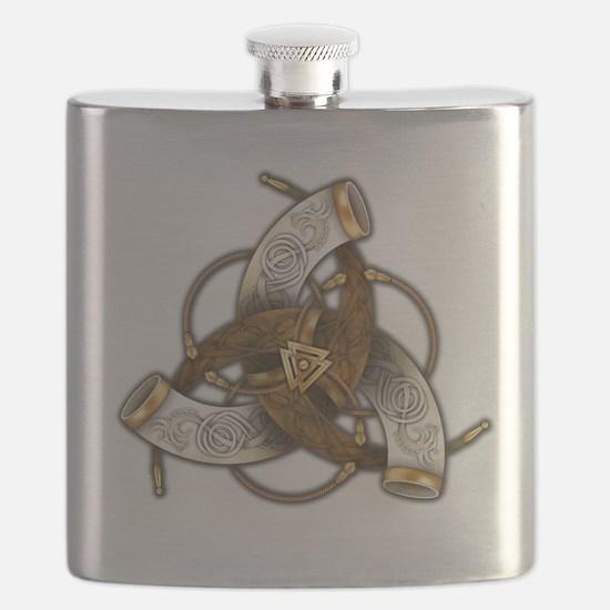 Odin's Triple Horns Flask