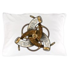 Odin's Triple Horns Pillow Case