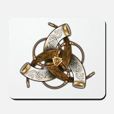 Odin's Triple Horns Mousepad