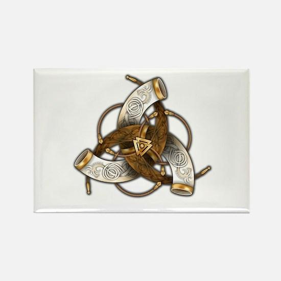 Odin's Triple Horns Rectangle Magnet