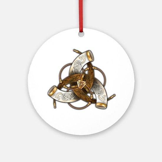 Odin's Triple Horns Ornament (Round)
