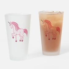 Pink Unicorn Drinking Glass