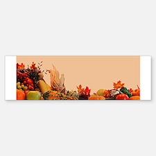 Cornucopia For Thanksgiving Bumper Bumper Sticker