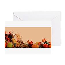 Cornucopia For Thanksgiving Greeting Card