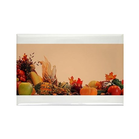 Cornucopia For Thanksg Rectangle Magnet (100 pack)