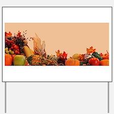 Cornucopia For Thanksgiving Yard Sign
