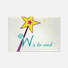 W is for Wand Rectangle Magnet