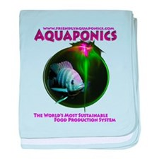 Friendly Aquaponics Fish baby blanket