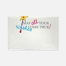 May all your wishes come true! Rectangle Magnet