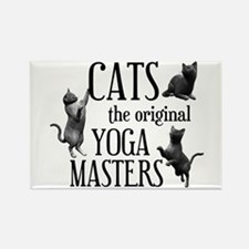 Cat Yoga Rectangle Magnet