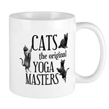 Cat Yoga Small Mug