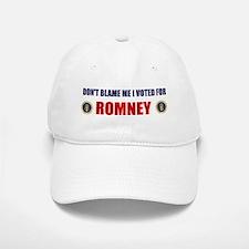 DONT BLAME ME I VOTED FOR ROMNEY BUMPER STICKER Ca