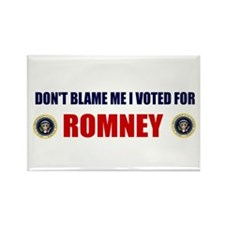 DONT BLAME ME I VOTED FOR ROMNEY BUMPER STICKER Re