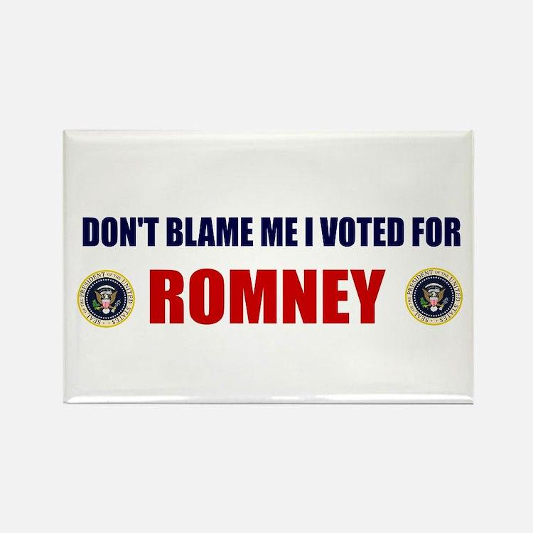 DONT BLAME ME I VOTED FOR ROMNEY BUMPER STICKER Re