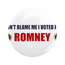 DONT BLAME ME I VOTED FOR ROMNEY BUMPER STICKER 3.