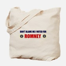DONT BLAME ME I VOTED FOR ROMNEY BUMPER STICKER To