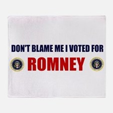DONT BLAME ME I VOTED FOR ROMNEY BUMPER STICKER S