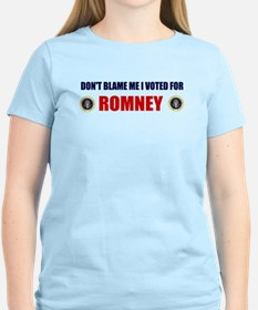 DONT BLAME ME I VOTED FOR ROMNEY BUMPER STICKER Wo