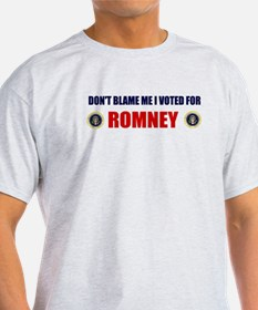 DONT BLAME ME I VOTED FOR ROMNEY BUMPER STICKER Li