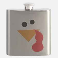 Funny Turkey Thanksgiving Flask