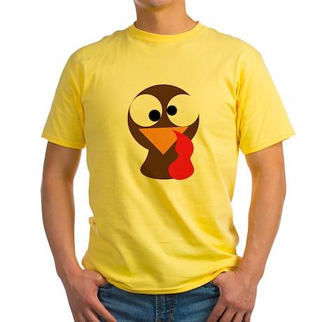 Funny Turkey Thanksgiving Face Yellow T-Shirt
