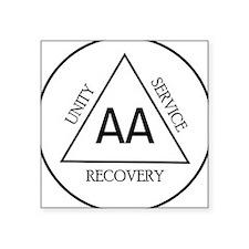 "Alcoholic Anonymous Square Sticker 3"" x 3"""