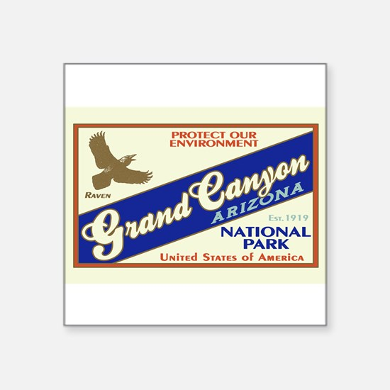 Grand Canyon (Raven) Rectangle Sticker