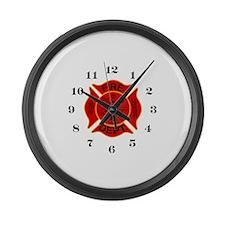 Unique Fireman Large Wall Clock