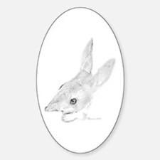 Artwork, Easter Bilby Oval Decal