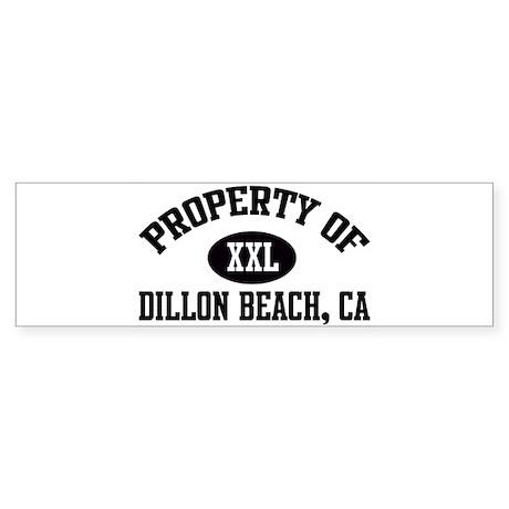 Property of DILLON BEACH Bumper Sticker