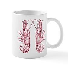 Vintage Lobsters in Red Mug