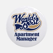 Apartment Manager (Worlds Best) Ornament (Round)