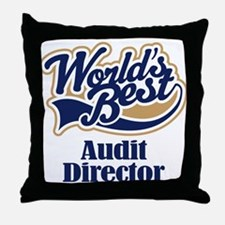 Audit Director (Worlds Best) Throw Pillow
