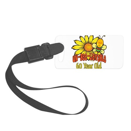 UNBELIEVABLEat60.png Small Luggage Tag