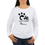 Opt to Adopt black and white Women's Long Sleeve T