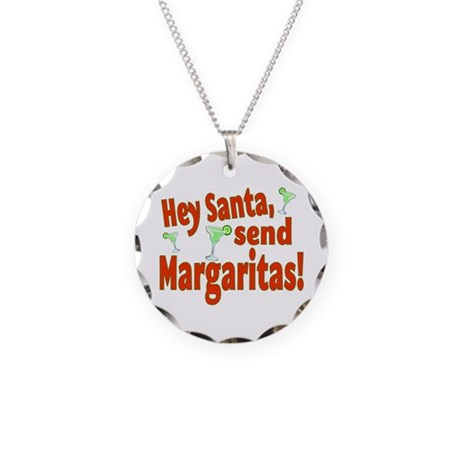 Send Margaritas Necklace Circle Charm